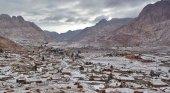 La nieve cubre la Península del Sinaí (Egipto)