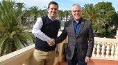Marc Espasa junto a Pere Granados en la presentación oficial