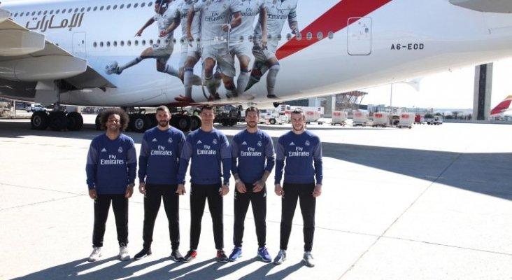 Jugadores del Real Madrid durante la presentación