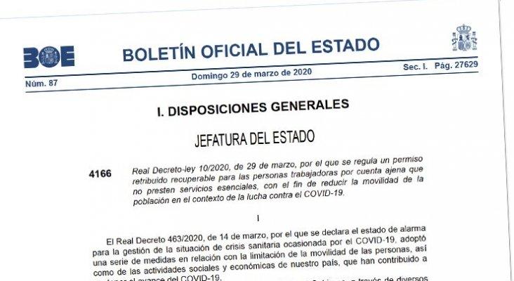 El nuevo Real Decreto-ley 10/2020 no es de aplicación al sector hotelero
