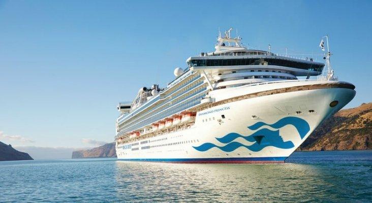 El crucero Diamond Princess, de Princess Cruises, que estuvo en cuarentena en la costa de Japón, el pasado febrero- TTG