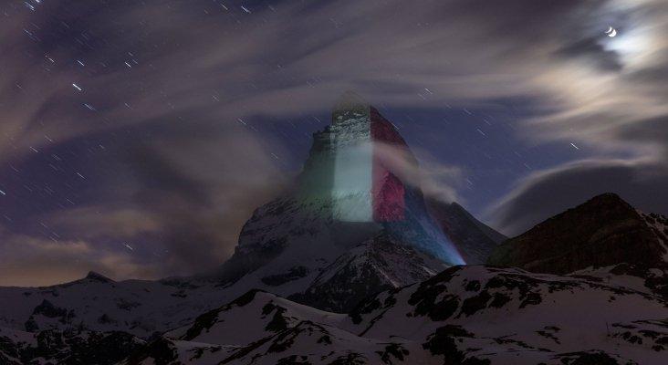 Los monumentos del mundo se tiñen con la tricolor para apoyar a Italia © Frank Schwarzbach