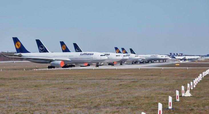 Flota de Lufthansa en tierra | Foto: Lufthansa