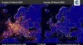 Cae el tráfico aéreo en Europa un 90%