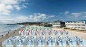 Mamparas, la solución de Italia para ir a la playa y respetar el distanciamiento | Foto: Sur