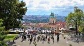 Turistas en Praga, República Checa
