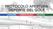 Lanzan un protocolo para la apertura de los campos de golf en España