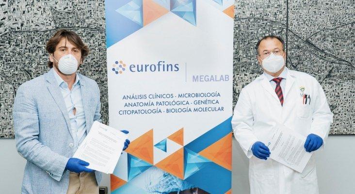 Jorge Marichal, presidente de Ashotel y Pedro González Santiago, presidente ejecutivo de Eurofins Megalab Canarias