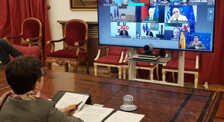 "10 países de la UE restauran la libertad de circulación con ""corredores turísticos""   Foto: Arancha González, ministra de Asuntos Exteriores de España"