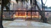 Incendio asola el Bahia Principe Grand El Portillo, en Samaná (R.Dominicana)