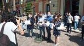 Los hosteleros de Murcia entregan las llaves de sus locales ante la falta de medidas |Foto: HOSTEMUR Twitter