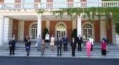 Foto de los asistentes a la presentación del plan de impulso del turismo | Foto: Pool Moncloa Fernando Calvo