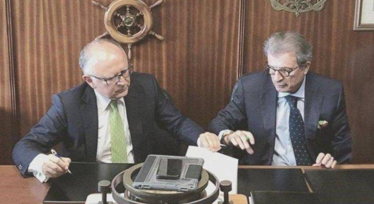 Rodolfo Núñez, nuevo presidente de Binter; y Alfredo Morales, vicepresidente Foto: Binter