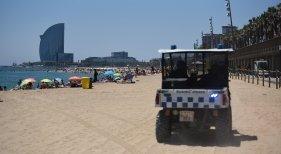 Las playas de Barcelona cerrarán si no se cumple la distancia social | Foto: Guardia Urbana de Barcelona Twitter