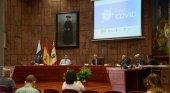 La Gomera, escenario piloto de la 'App' de rastreo de contagios | Foto: En el centro, con la palabra, el presidente de Canarias, Ángel Víctor Torres