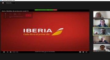 CEAV reúne a 180 agencias de viajes en un webinar con Iberia