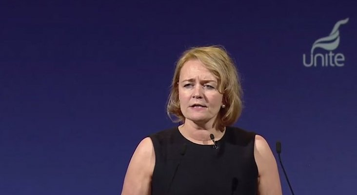 Sharon Graham, directora ejecutiva de Unite Union