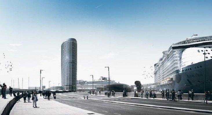 Málaga cuenta con 21 parcelas para la construcción de hoteles|Foto: Proyecto hotelero en el Puerto de Málaga, Málaga Hoy