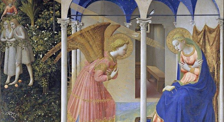 1024px La Anunciación, de Fra Angelico