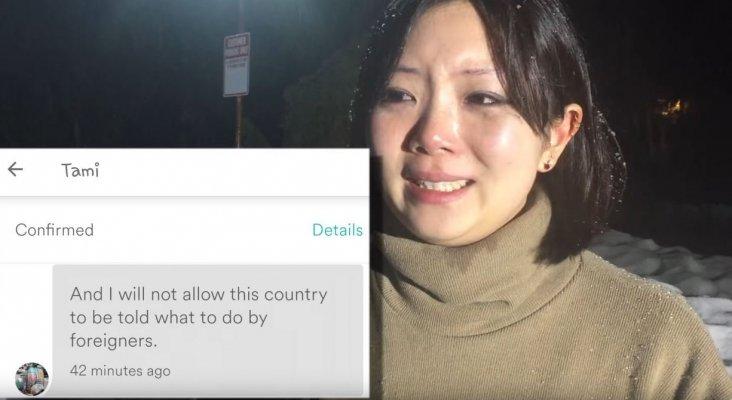 Mujer asiática sufre discriminación por parte de una anfitriona de airbnb