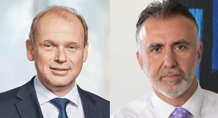 Sebastian Ebel, miembro del consejo de Grupo TUI y Ángel Víctor Torres, presidente del Gobierno de Canarias
