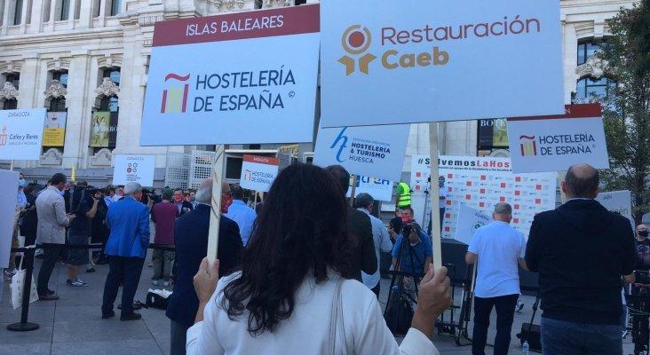 La Hostelería española toma la calle en señal de protesta|Foto: RestauraciónMallorca CAEB