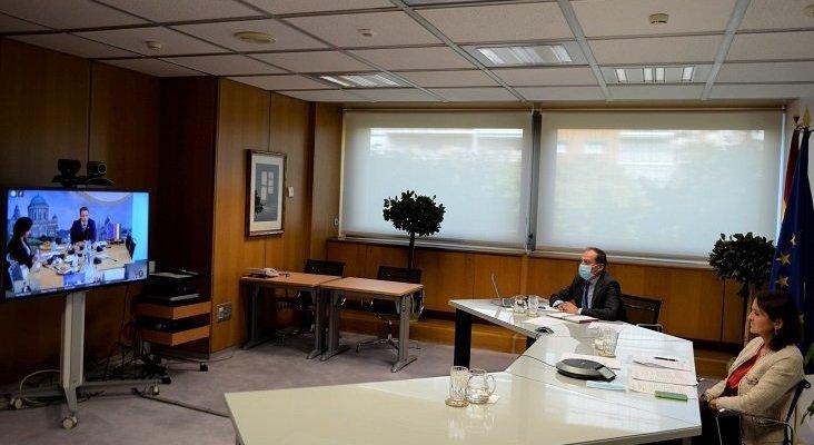 Reyes Maroto durante el encuentro de ministros de la UE