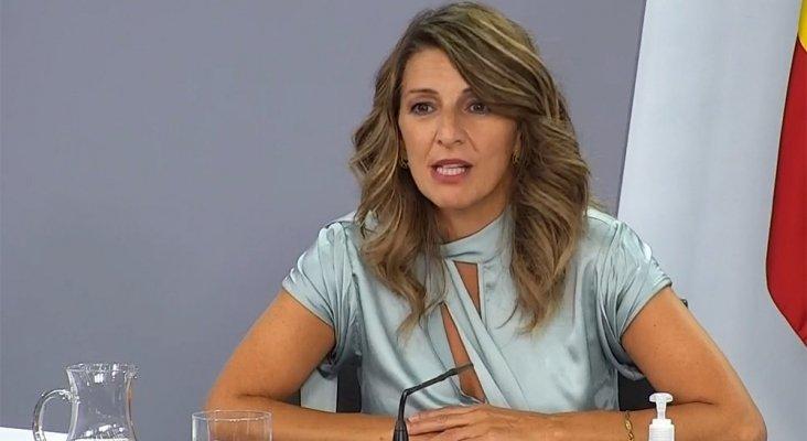 Yolanda Díaz, ministra de Trabajo   Imagen: Ministerio de Trabajo y Economía Social