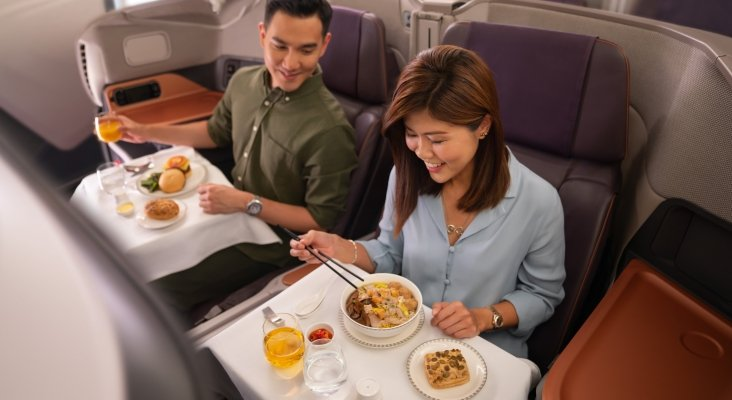 El avión convertido en el restaurante A380 @Changi de Singapore Airlines