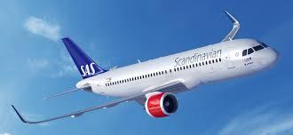 Avión de Scandinavian Airlines