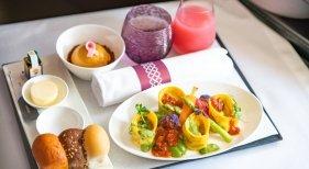Menú vegano de Qatar Airways   Imagen: Qatar Airways