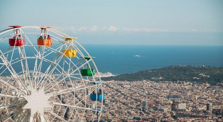 Parque de atracciones Tibidabo, en Barcelona.