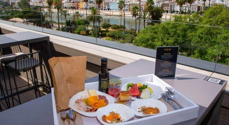 Vistas de la terraza del Hotel Kivir, en Sevilla | Imagen: Hotel Kivir