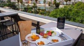 Vistas de la terraza del Hotel Kivir, en Sevilla   Imagen: Hotel Kivir