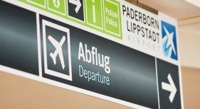 Ya hay programadas 13.000 plazas semanales desde Alemania a Canarias   Foto: Terminal de salidas del Aeropuerto de Paderborn-Lippstadt