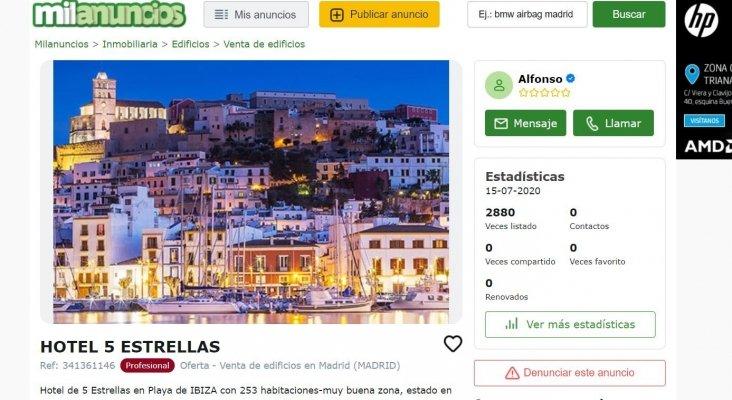 Inusual venta masiva de establecimientos hoteleros en Ibiza