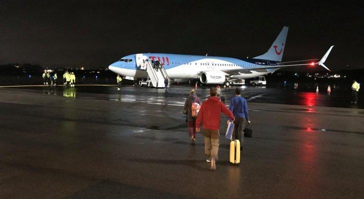 Primeras viajeros suecos que salieron rumbo a Canarias  Foto: Norrköping Airport