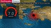 Epicentro del terremoto en el mar Egeo vía Travel Mole