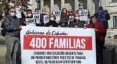 Los trabajadores del Hotel Oliva Beach (Fuerteventura) toman Madrid