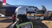 Un 'Jumbo' se incendia en el aeropuerto de Castellón  | Foto: Consorcio Provincial de Bomberos de Castellón (CPBC)