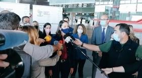 Reyes Maroto a su llegada a La Palma Foto Ministerio de Turismo