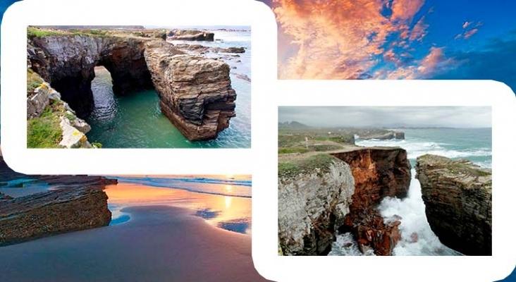 Un desprendimiento rocoso causa el derrumbe del primer arco de la playa de As Catedrais (Galicia)