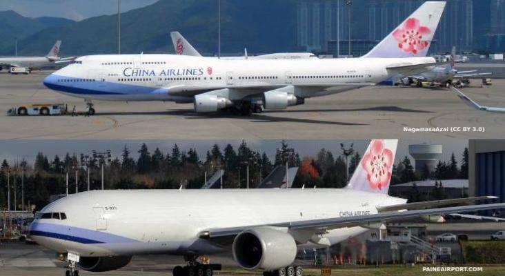 China Airlines, aerolínea nacional de Taiwán, cambia de nombre para distanciarse de Wuhan y el Covid Montaje fotográfico en base a fotografías de Paine Airport (@mattcawby) y NagamasaAzai (CC BY 3.0)
