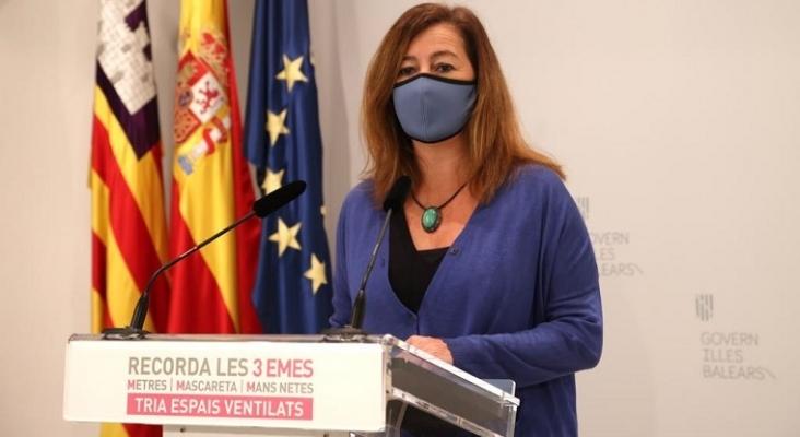 El Govern de Baleares descarta el control de PCR a turistas en los hoteles Foto: Francina Armengol