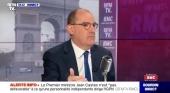 Jean Castex, primer ministro francés, durante su intervención en BFMTV