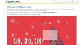 Las agencias de viajes HOLIDAY LAND (rtk Group) lanzan un calendario de adviento online con premios