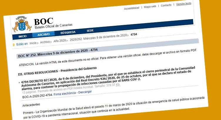 Canarias publica el Decreto que permite los test de antígenos en puertos y aeropuertos