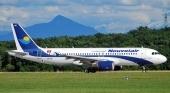 Avión de la aerolínea Nouvelair, contratada por los seis touroperadores portugueses