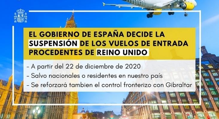 España también suspende los vuelos desde Reino Unido