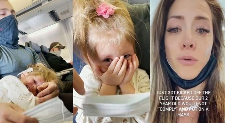 Un matrimonio, expulsado de un avión porque su hija de dos años se negó a usar la mascarilla